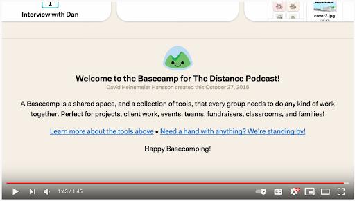 basecamp onboarding video